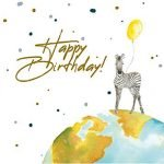Kaart zebra happy birthday