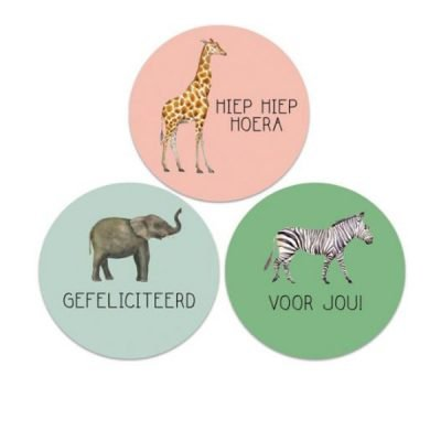 Stickers Jungle dieren