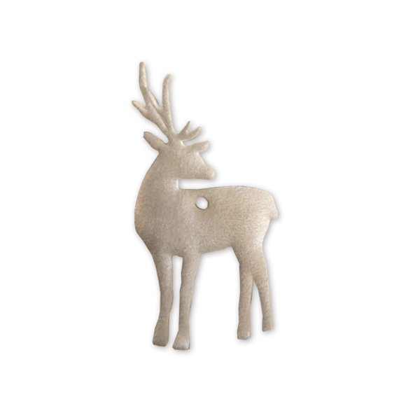 Cadeau decoratie Wapiti wit 1